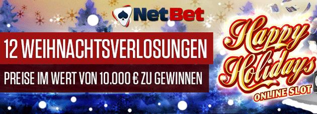 Weitere Informationen zuDie 12 Weihnachtsverlosungen von NetBet/NetBet Casino