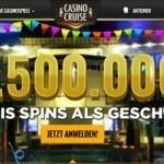 Weitere Informationen zu2.500.000 Gratis Spins im Januar bei Casino Cruise/Casino Cruise