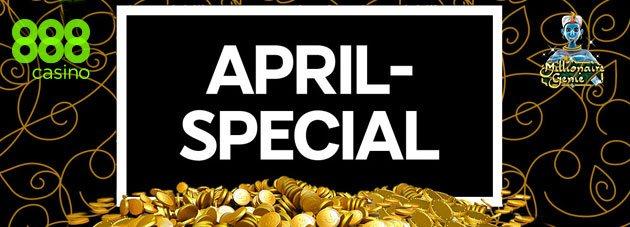 Weitere Informationen zuApril Special bei 888 Casino – Mit 30% FreePlay von bis zu $400/888 Casino