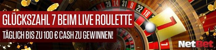 Weitere Informationen zuGlückszahl 7 Live Roulette mit 1000€ Cash im NetBet Casino/NetBet Casino