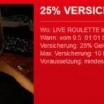 Weitere Informationen zuLive Roulette mit 25% Versicherung – Sonderaktion im Sportingbet Casino/
