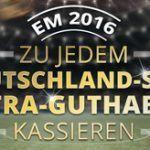 Weitere Informationen zuCasino-Bonus bei jedem Deutschland-Sieg während der EM 2016 mit sunmaker/