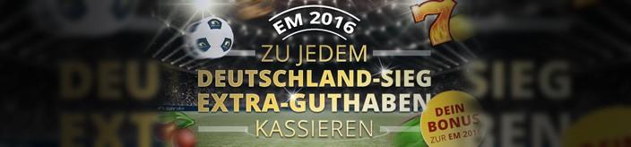 Weitere Informationen zuCasino-Bonus bei jedem Deutschland-Sieg während der EM 2016 mit sunmaker/sunmaker