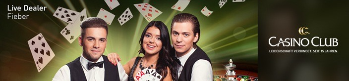 Weitere Informationen zuCasino Club: Live-Casino Bonus garantiert Live Dealer Fieber/Casino Club