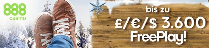 Weitere Informationen zuDer Winter steht an – erhalte im 888 Casino diverse FreePlays im Wert von bis zu €3.600/888 Casino