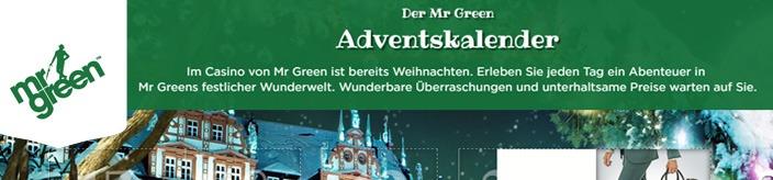 Weitere Informationen zuMit dem Adventskalender von Mr Green Geschenke ergattern/Mr Green