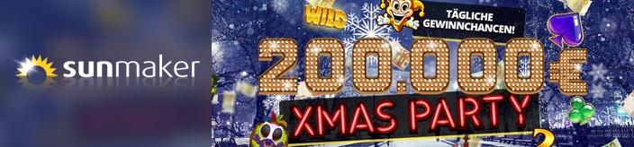 Weitere Informationen zuPreise im Wert von 200.000€ mit der X-Mas Party von sunmaker gewinnen/sunmaker