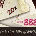 Weitere Informationen zu888 Casino präsentiert die Neujahrs-Torte – Freeplay bis zu 888 Euro abstauben/