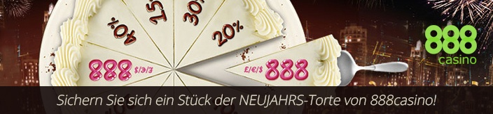Weitere Informationen zu888 Casino präsentiert die Neujahrs-Torte – Freeplay bis zu 888 Euro abstauben/888 Casino