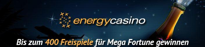 Weitere Informationen zu400 Freispiele für Mega Fortune bei EnergyCasino/EnergyCasino