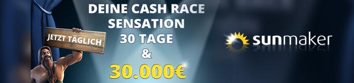 Weitere Informationen zuBei Sunmaker gibts insgesamt 30 000 Euro im Cash Race/sunmaker