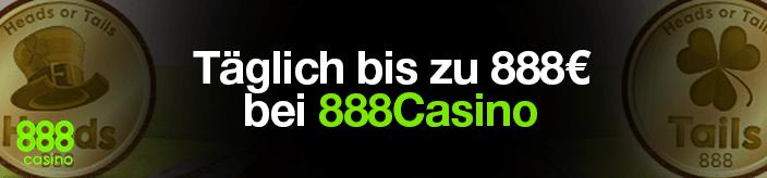 Weitere Informationen zuMit Kopf oder Zahl bei 888 Casino täglich 888€ sichern/888 Casino