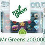 Weitere Informationen zuMr Green verlost 200 000 Freispiele für 4000 Spieler/Mr Green