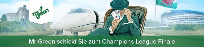 Weitere Informationen zuBei Mr Green Punkte sammeln, Tickets gewinnen und die Champions League live besuchen!/Mr Green
