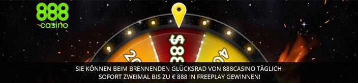 Weitere Informationen zuJetzt im 888 Casino das brennende Glücksrad drehen und bis zu 888 Euro gewinnen/888 Casino