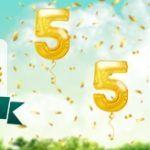 Weitere Informationen zuJubiläumsaktion bei Platin Casino: 500% Bonus bis zu 555€ auf die nächste Einzahlung erhalten/Platin Casino