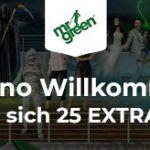Weitere Informationen zuNehmen Sie das erhöhte Bonusangebot von Mr Green in Anspruch/Mr Green